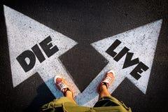 Ζήστε ή πεθάνετε Στοκ εικόνα με δικαίωμα ελεύθερης χρήσης