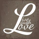 Ζήστε αγάπη γέλιου Στοκ Εικόνες