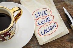 Ζήστε, αγαπήστε, γέλιο στοκ φωτογραφία με δικαίωμα ελεύθερης χρήσης
