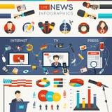 Ζήστε ειδήσεις Infographics Στοκ Εικόνες