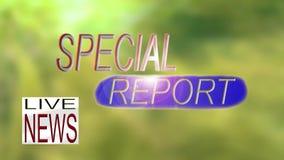 Ζήστε ειδική έκθεση ειδήσεων TV γραφική φιλμ μικρού μήκους