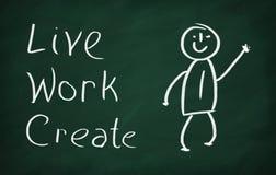 Ζήστε, εργαστείτε, δημιουργήστε Στοκ Εικόνες