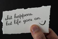 Ζήστε θετικά Στοκ Εικόνες