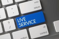 Ζήστε κουμπί υπηρεσιών τρισδιάστατος στοκ εικόνες με δικαίωμα ελεύθερης χρήσης
