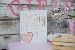 Ζήστε μεγάλος στεναγμός μικρών κοριτσιών νέο ντους καρτών αγοριών μωρών γεννημένο Στοκ Εικόνες