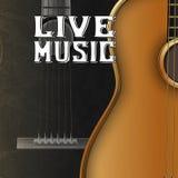 Ζήστε μουσική κιθάρων Στοκ Φωτογραφίες
