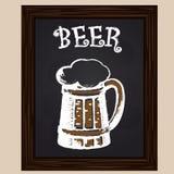 Ζήστε μπύρα με τον αφρό Στοκ Φωτογραφίες