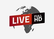 Ζήστε πλήρες κουμπί HD σφαίρα Σημάδι, έμβλημα, λογότυπο Απεικόνιση αποθεμάτων