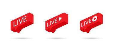 Ζήστε σημάδι ρευμάτων, έμβλημα, λογότυπο Κοινωνική ΖΩΝΤΑΝΗ ροή εικονιδίων μέσων γραφικό διάνυσμα λεκτικής ομιλίας προσώπων φυσαλί διανυσματική απεικόνιση