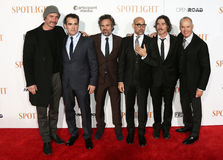 Ζήστε Schreiber, d'Arcy James, Mark Ruffalo, Stanley Tucci, Μπίλι Crudup, Michael Keaton του Brian Στοκ εικόνες με δικαίωμα ελεύθερης χρήσης