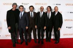 Ζήστε Schreiber, d'Arcy James, Mark Ruffalo, Stanley Tucci, Μπίλι Crudup, Michael Keaton του Brian Στοκ φωτογραφία με δικαίωμα ελεύθερης χρήσης