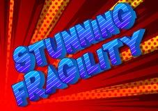 Ζαλίζοντας εύθραυστο - λέξεις ύφους κόμικς διανυσματική απεικόνιση