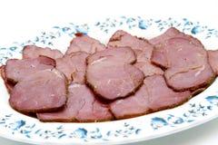 Ζαμπόν βοοειδών στο πιάτο Στοκ Εικόνα