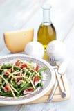 Ζαμπόν και σαλάτα φασολιών Στοκ Εικόνες