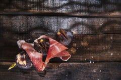 Ζαμπόν και σύκα οβελιδίων Στοκ Εικόνες