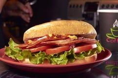 Ζαμπόν σάντουιτς, πρόχειρο φαγητό Στοκ Εικόνες