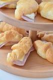Ζαμπόν & τυρί Croissant στοκ εικόνα με δικαίωμα ελεύθερης χρήσης