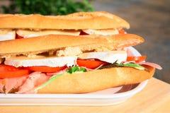 ζαμπόν τυριών baguette Στοκ φωτογραφία με δικαίωμα ελεύθερης χρήσης