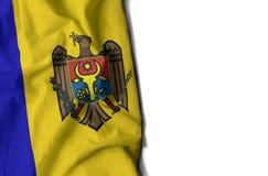 ζαρωμένη η Μολδαβία σημαία, διάστημα για το κείμενο Στοκ Εικόνες