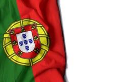 ζαρωμένη η Πορτογαλία σημαία, διάστημα για το κείμενο Στοκ φωτογραφία με δικαίωμα ελεύθερης χρήσης
