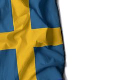 ζαρωμένη η Σουηδία σημαία, διάστημα για το κείμενο Στοκ εικόνα με δικαίωμα ελεύθερης χρήσης