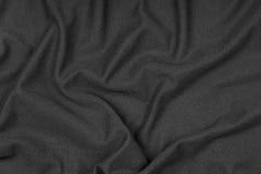Ζαρωμένη σύσταση του μαύρου υφάσματος Στοκ φωτογραφία με δικαίωμα ελεύθερης χρήσης