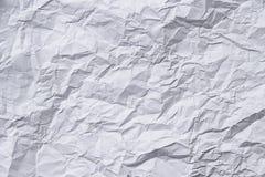 Ζαρωμένο λευκό εγγράφου Στοκ φωτογραφίες με δικαίωμα ελεύθερης χρήσης