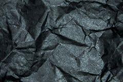 Ζαρωμένο μαύρο έγγραφο μεταλλινών backgraund Στοκ φωτογραφία με δικαίωμα ελεύθερης χρήσης