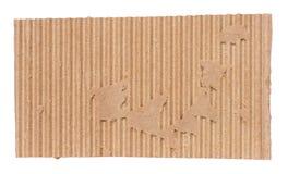 ζαρωμένο χαρτόνι κομμάτι Στοκ Εικόνα