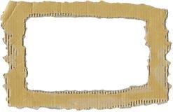 ζαρωμένο χαρτόνι πλαίσιο Στοκ Φωτογραφία