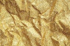 Ζαρωμένο χρυσός αφηρημένο υπόβαθρο σύστασης εγγράφου Στοκ εικόνες με δικαίωμα ελεύθερης χρήσης
