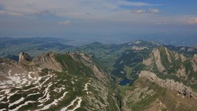 Ζαλίζοντας άποψη από το υποστήριγμα Santis προς Appenzell Στοκ εικόνες με δικαίωμα ελεύθερης χρήσης