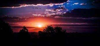 Ζαλίζοντας ηλιοβασίλεμα Στοκ φωτογραφίες με δικαίωμα ελεύθερης χρήσης