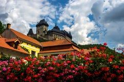 Ζαλίζοντας κάστρο του karljtein, Δημοκρατία της Τσεχίας Στοκ Εικόνες