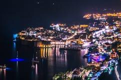 Ζαλίζοντας πανόραμα Dubrovnik με την παλαιά πόλη και την αδριατική θάλασσα Στοκ εικόνες με δικαίωμα ελεύθερης χρήσης