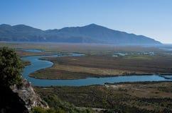 Ζαλίζοντας τοπίο του ποταμού Dalyan, Τουρκία Στοκ Φωτογραφίες