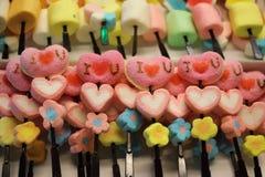 Ζελατίνα ι u αγάπης με τη μορφή καρδιών Στοκ φωτογραφίες με δικαίωμα ελεύθερης χρήσης