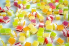 Ζελατίνα που ντύνεται γλυκιά με τη ζάχαρη στοκ εικόνες