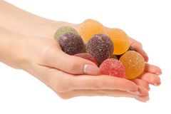 Ζελατίνα φρούτων στη ζάχαρη υπό εξέταση Στοκ Φωτογραφίες