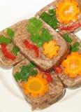 ζελατινοποιημένο κρέας π στοκ εικόνα με δικαίωμα ελεύθερης χρήσης