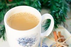 Ζεστό ποτό Χριστουγέννων με την κανέλα στοκ εικόνα με δικαίωμα ελεύθερης χρήσης