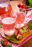 Ζεστό ποτό strawberrys Στοκ εικόνα με δικαίωμα ελεύθερης χρήσης