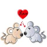 ζευγάρι αγάπης mouses μικρό απεικόνιση αποθεμάτων
