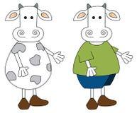 Ζευγάρι αγελάδων απεικόνιση αποθεμάτων
