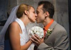 ζευγάρι ακριβώς παντρεμέν&o Στοκ εικόνα με δικαίωμα ελεύθερης χρήσης