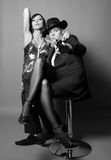 ζευγάρι γκάγκστερ Στοκ φωτογραφίες με δικαίωμα ελεύθερης χρήσης