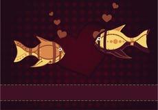 ζευγάρι εραστών ψαριών Στοκ Εικόνες