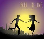 Ζευγάρι ερωτευμένο διανυσματική απεικόνιση
