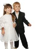 ζευγάρι κοριτσιών αγοριών Στοκ Φωτογραφίες