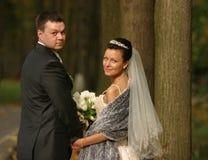 ζευγάρι παντρεμένο πρόσφατα Στοκ Φωτογραφία
